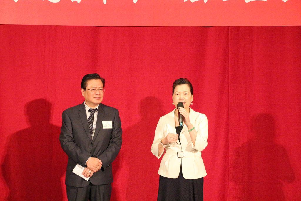 經濟部長王美花出席致賀許舒博理事長當選第11屆理事長